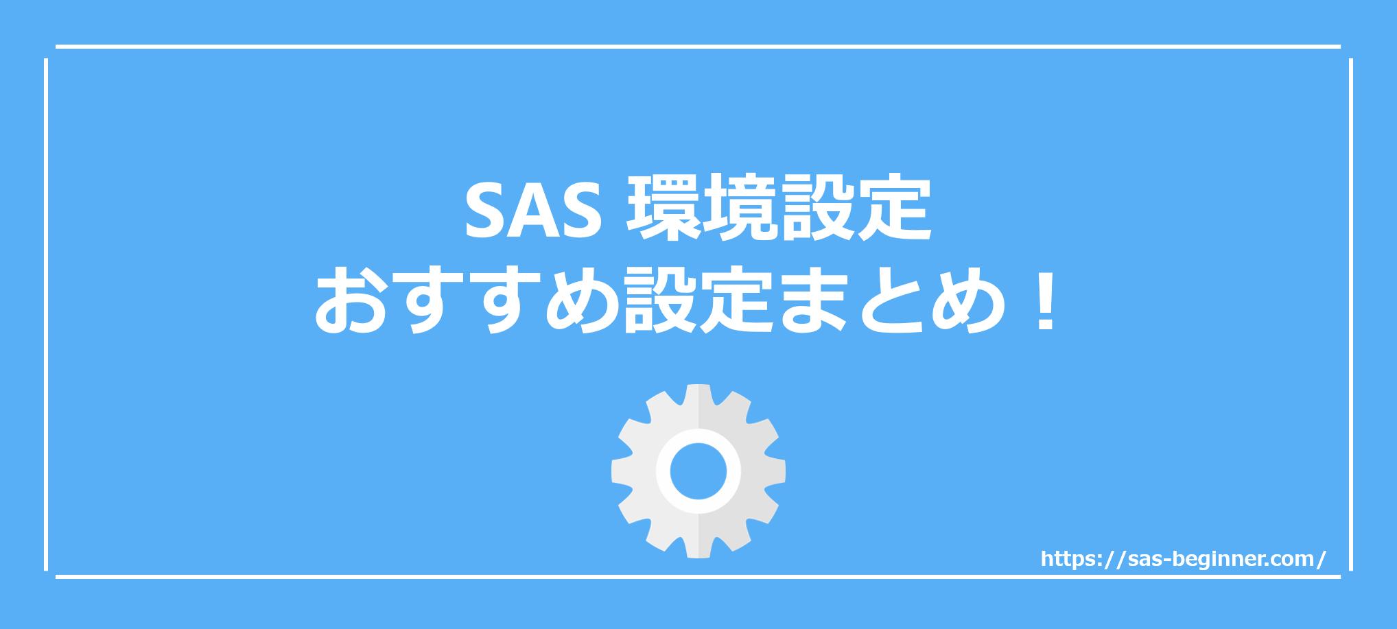 SASを導入したら真っ先に行うべき環境設定は?SASライフを快適に